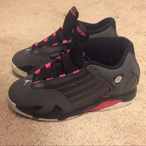 67b930ae34d8 Jordan Other - Air Jordan Retro 14 Grey Pink GS 3Y Womens 4.5